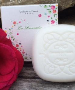 Savonnette parfumée à la rose