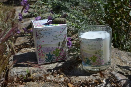 bougie parfumée lavande jardins en Provence