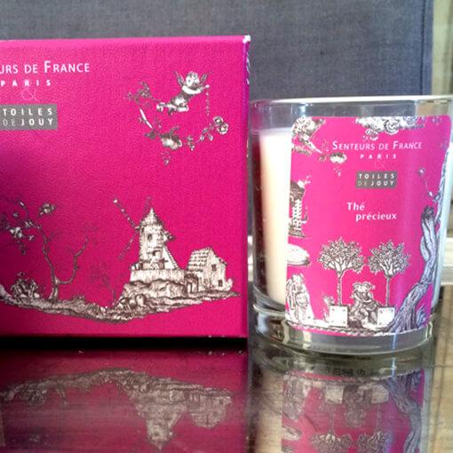bougie parfumée thé précieux