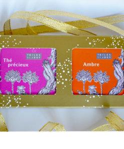 Savonnettes parfumées ambre et thé précieux
