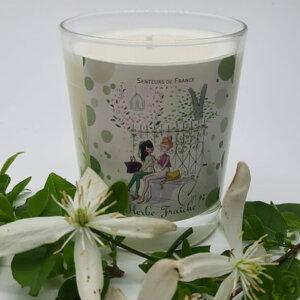 bougie cire végétale parfum de Grasse herbe fraîche thème Paris