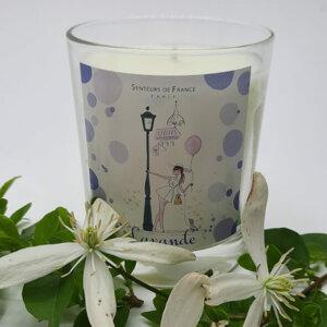 bougie cire végétale parfum de Grasse lavande thème Paris