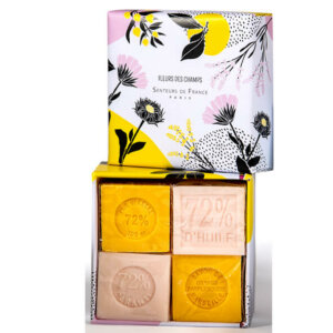 savon de Marseille savon cube rose et orange pamplemousse