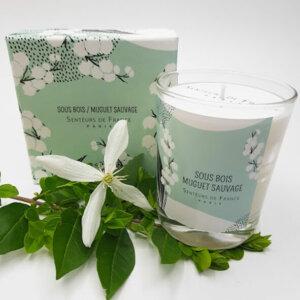 bougie parfum de Grasse muguet dans coffret Senteurs de France muguet