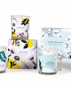 bougies parfumées de Grasse cire végétale de soja bio