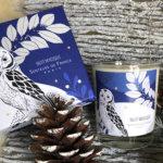 bougie parfum de Grasse lavande dans coffret Senteurs de France hibou