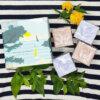 savons cubes parfumés figue et lavande dans coffret Senteurs de France mer parfum de Grasse