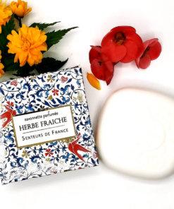 """savonnette parfumée herbe fraîche """"oiseaux"""""""