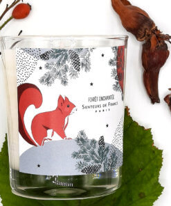 bougie parfumée ambre écureuil