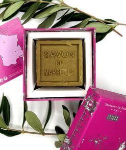 savon de Marseille coffret rose