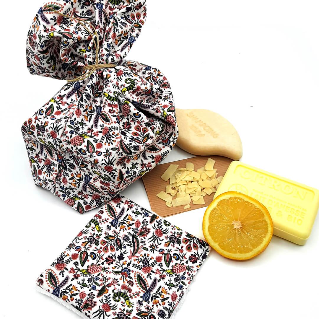 kit zéro déchet tissu Sajou