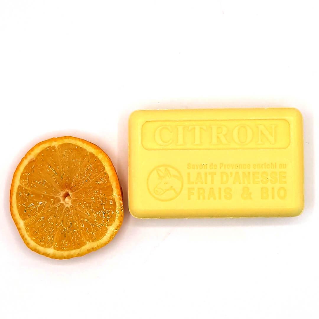 savon citron au lait d'ânesse frais et bio